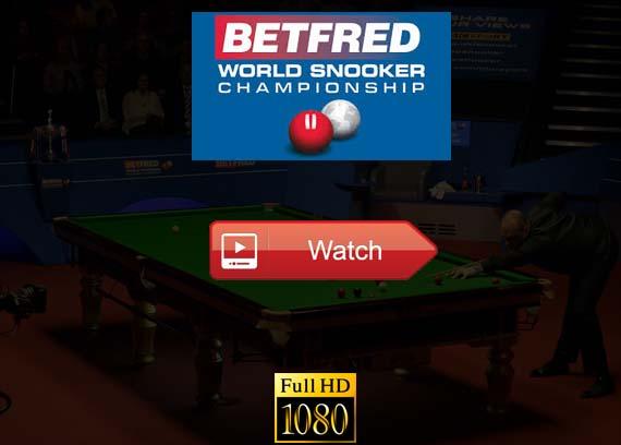 World Snooker Championship 2019 live