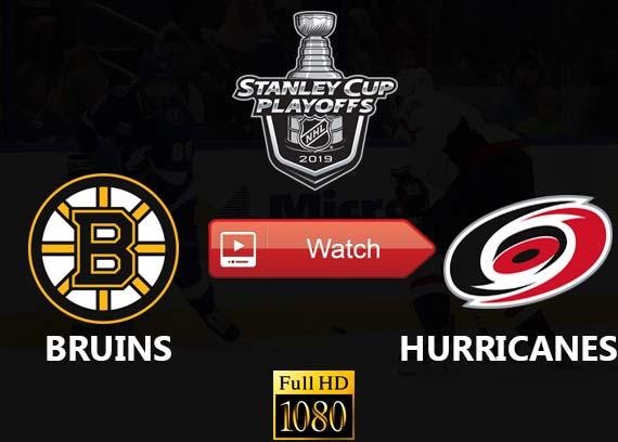 Bruins vs Hurricanes live stream channels
