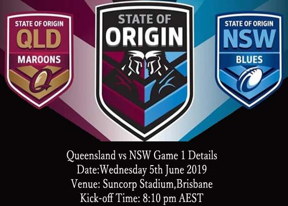 Watch NSW vs QLD Live Stream game 1