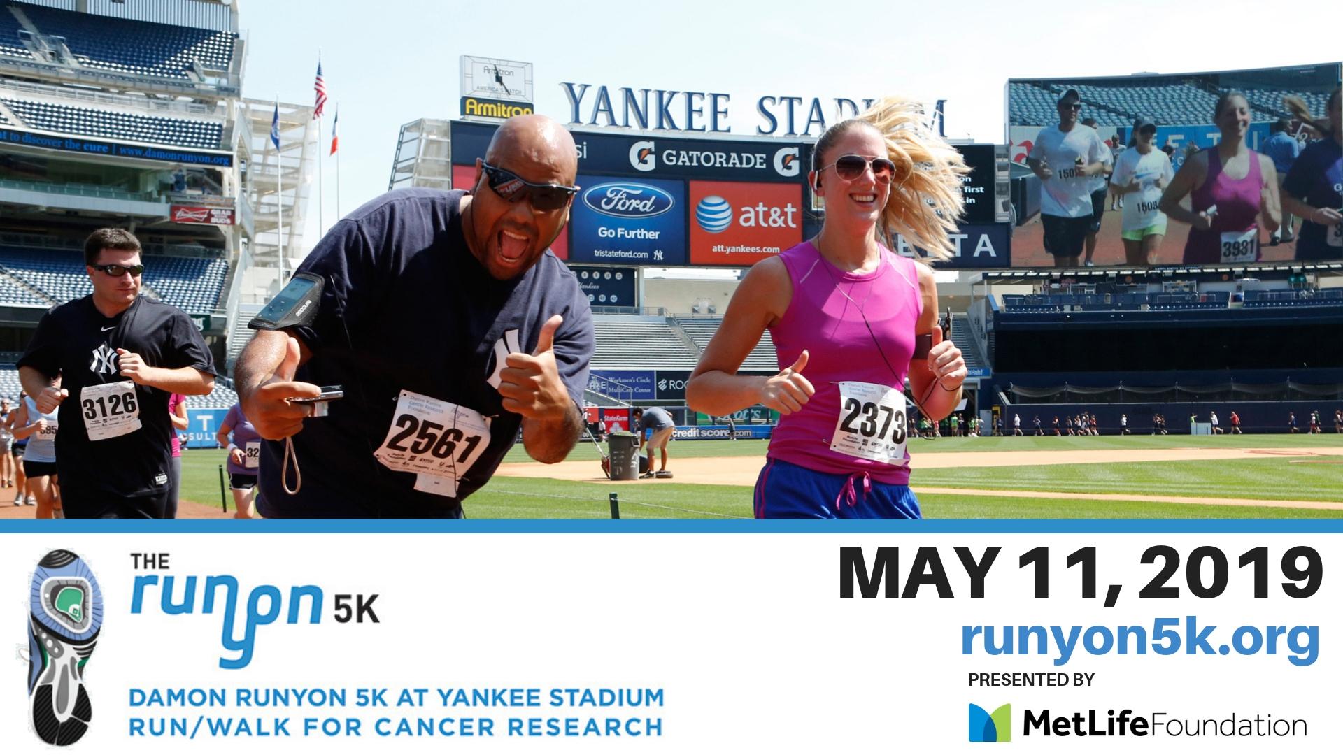 I'm running a 5K at Yankee Stadium