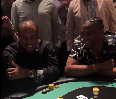 Watch: Russell Westbrook, Tiger Woods square off on poker table