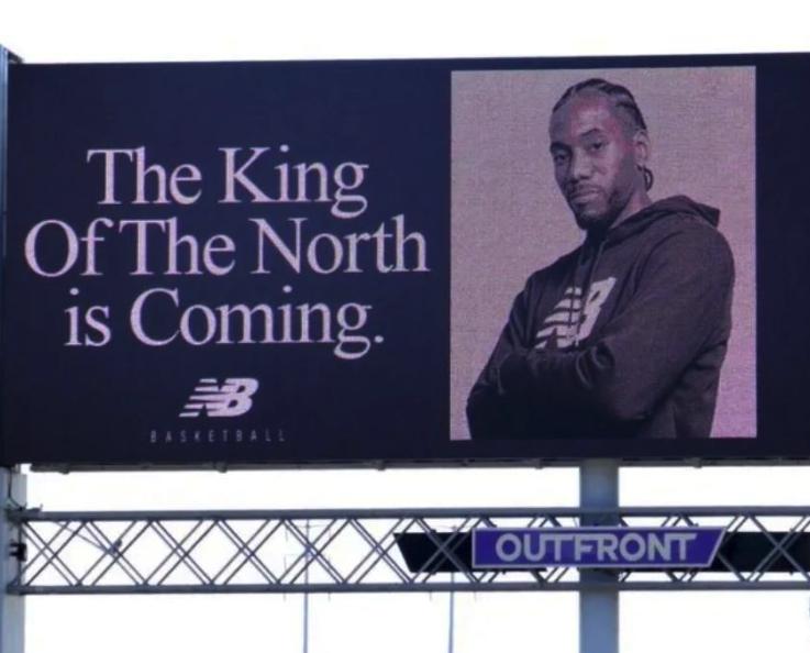 Look: This Kawhi Leonard billboard wins the Internet