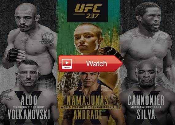 UFC 237 live stream channels