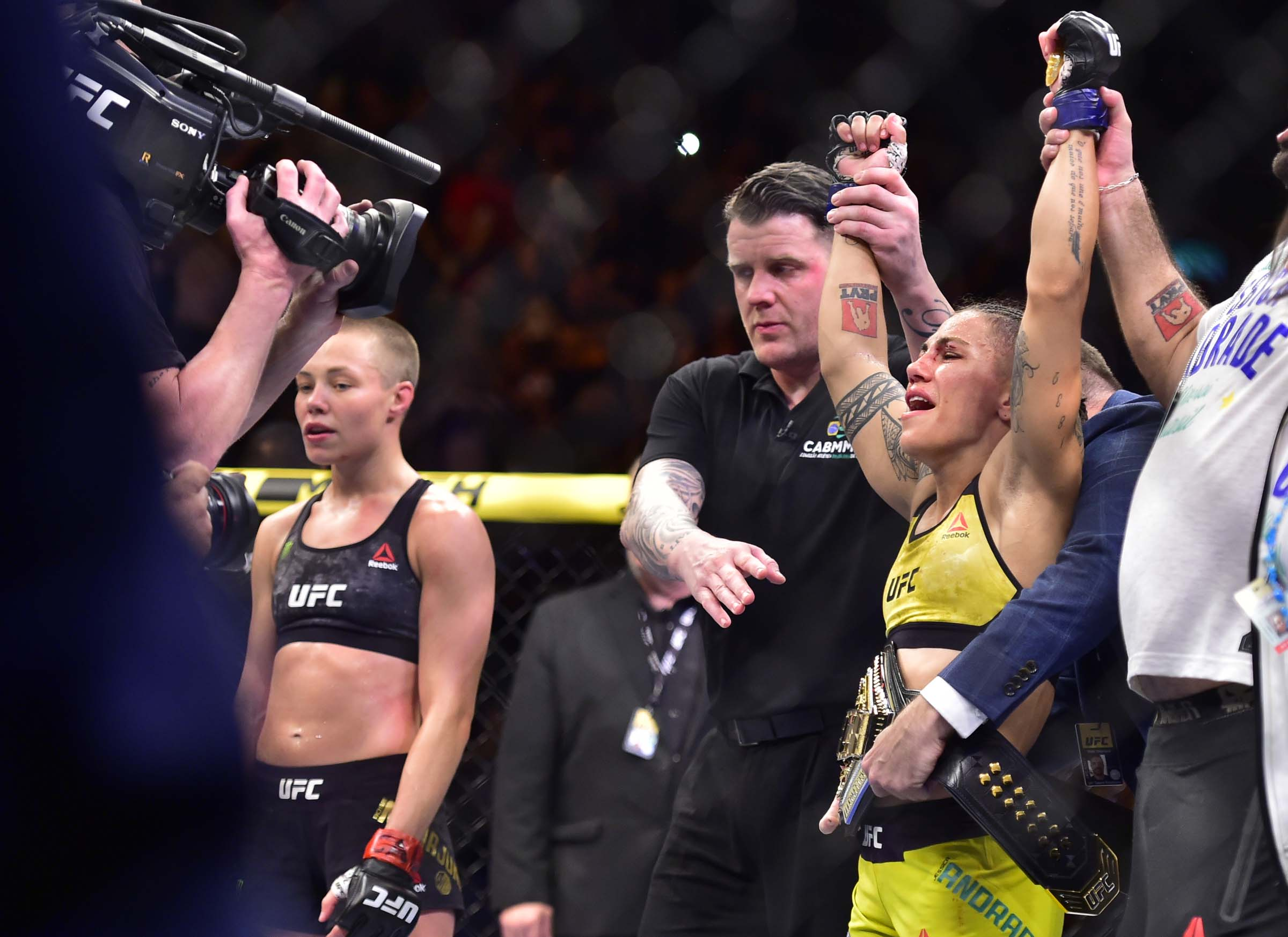 Jessica Andrade Wins Strawweight Gold at UFC 237 After Slamming Rose Namajunas On Her Head (Video)