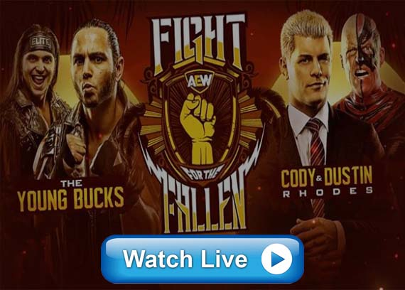 AEW Fight for the Fallen live streaming Reddit