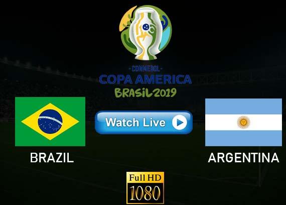 Brazil vs Argentina Copa America streams