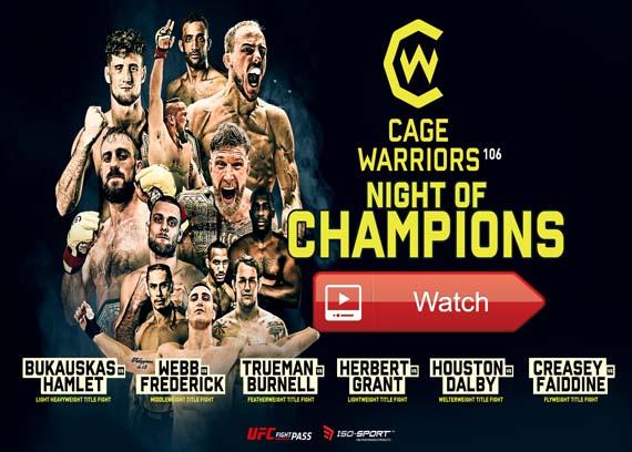 CW106: Night of Champions live stream