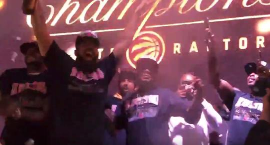 Drake flips out watching Raptors win NBA Finals (Video)