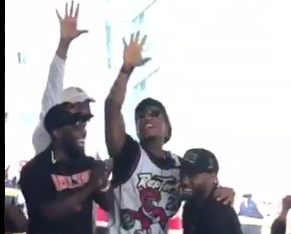 Kyle Lowry incites Raptors fans to chant 'Five more years' to Kawhi Leonard (Video)