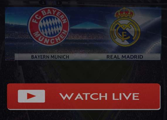 Bayern Munich vs Real Madrid Live Stream