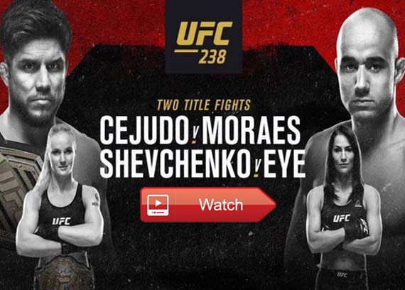 UFC 238 live stream channels