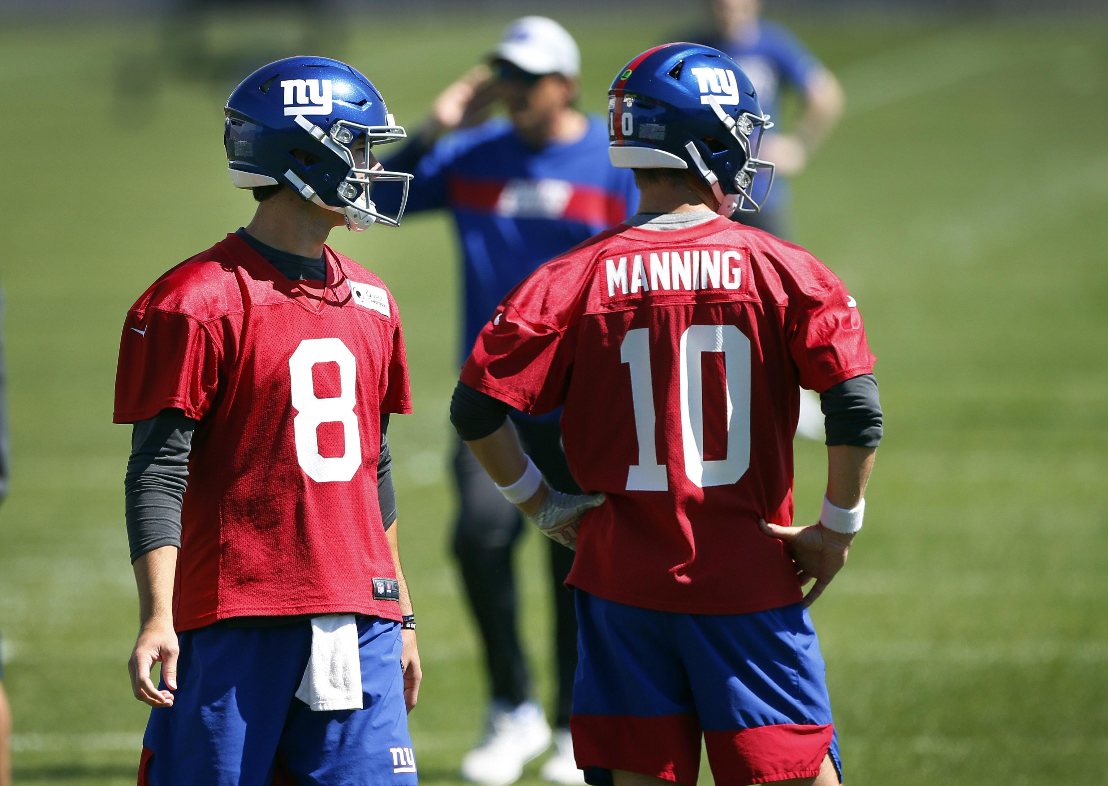 Eli Manning shoots down talk of competing with Daniel Jones for Giants starting QB job