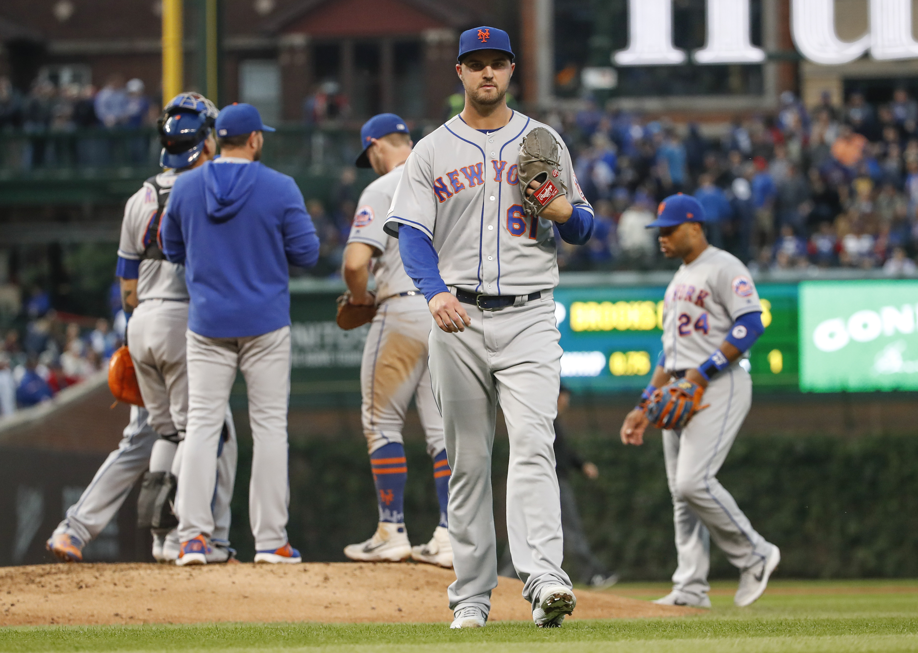 Walker Lockett gets shelled as New York Mets fall 7-4 to Chicago Cubs
