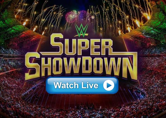 WWE Super Showdown live online streaming channels