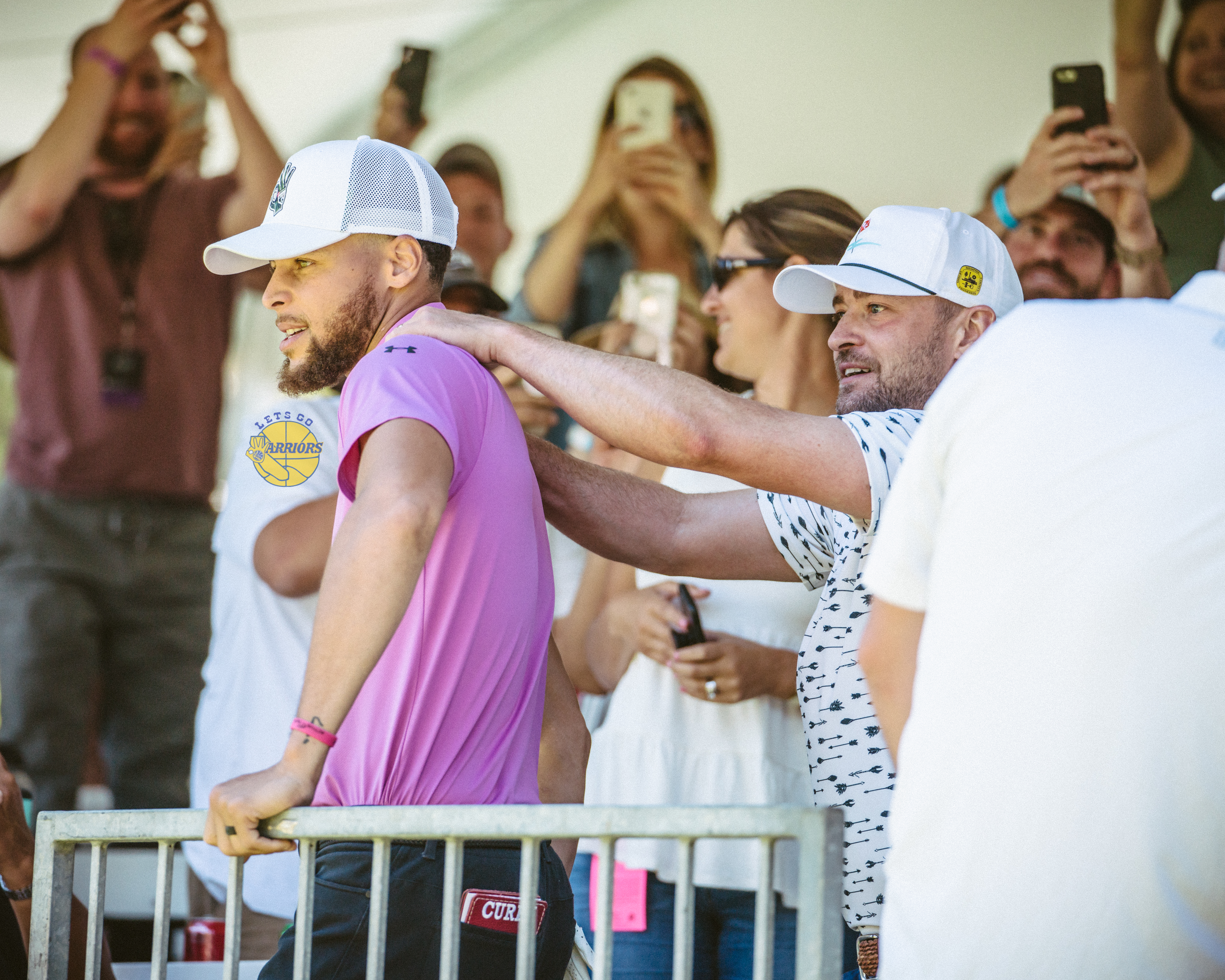 [PHOTO GALLERY] Steph Curry, Justin Timberlake, Aaron Rodgers at Edgewood Tahoe American Century Championship - Round 2 Back 9