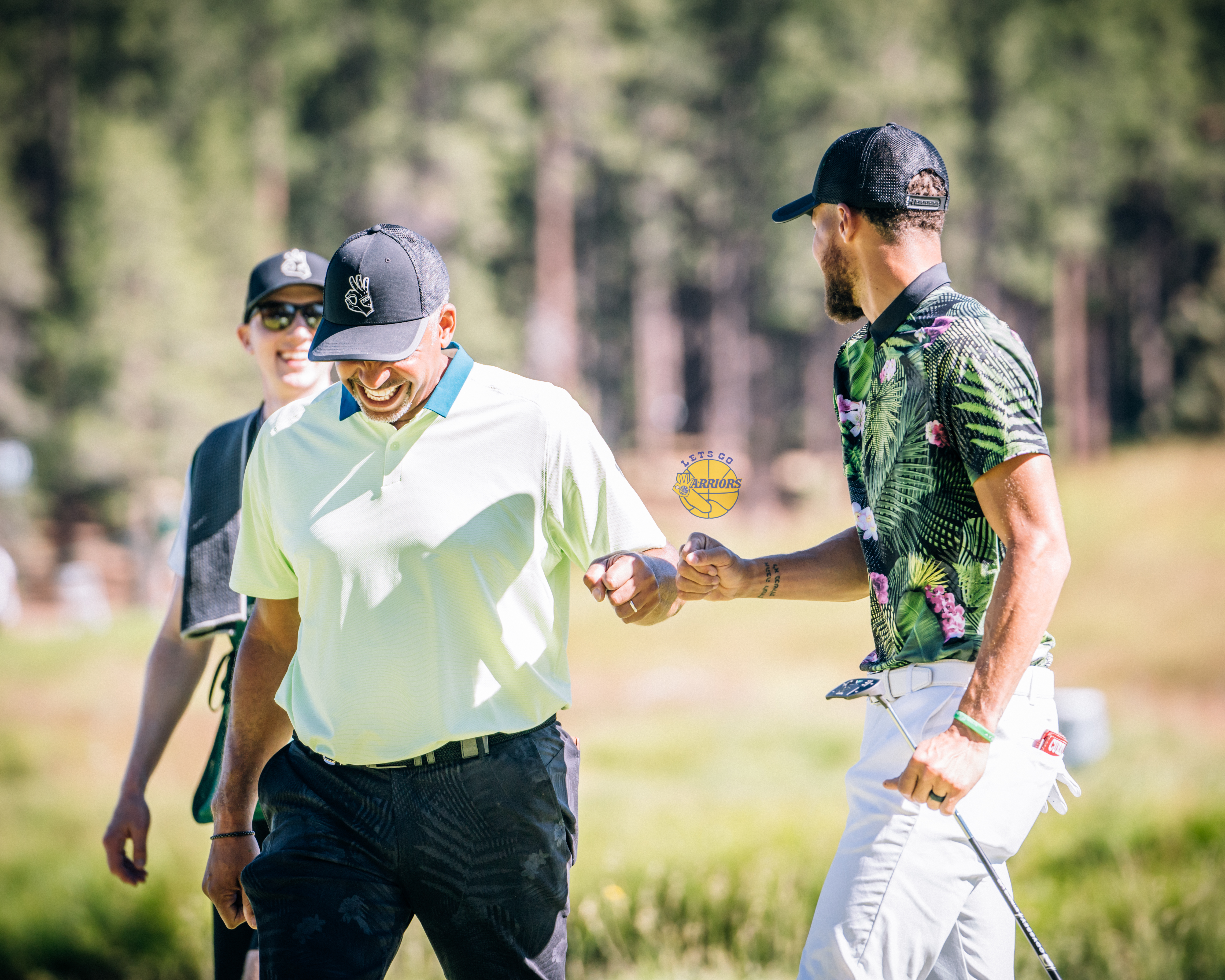 [PHOTO GALLERY] Steph & Dell Curry x Ray Allen at Edgewood Tahoe American Century Championship - Round 3