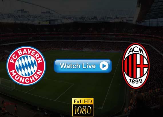 Bayern Munich vs AC Milan live streaming Reddit