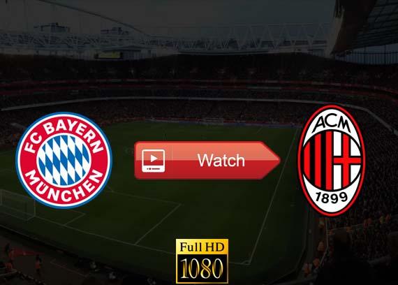 Bayern Munich vs AC Milan live stream Reddit
