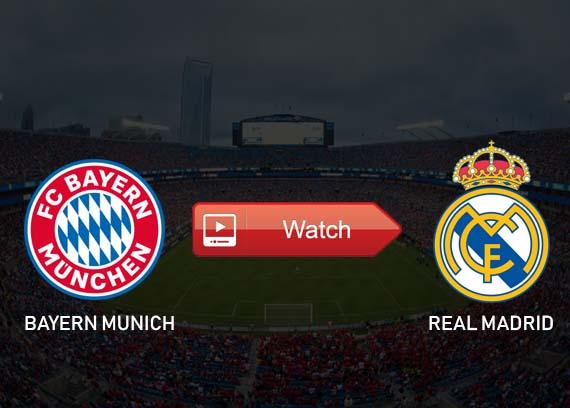Bayern Munich vs Real Madrid live stream reddit
