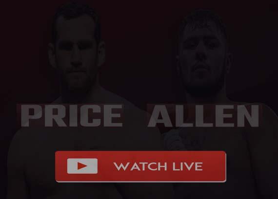 Allen vs Price Live Stream