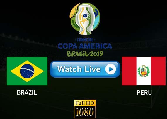 Brazil vs Peru Copa America live stream Reddit