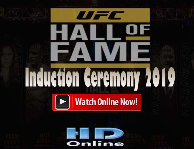 UFC Hall of Fame ceremony 2019 Live Reddit