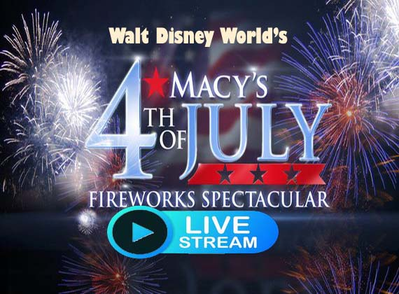 Walt Disney World's 4th of July Fireworks Live