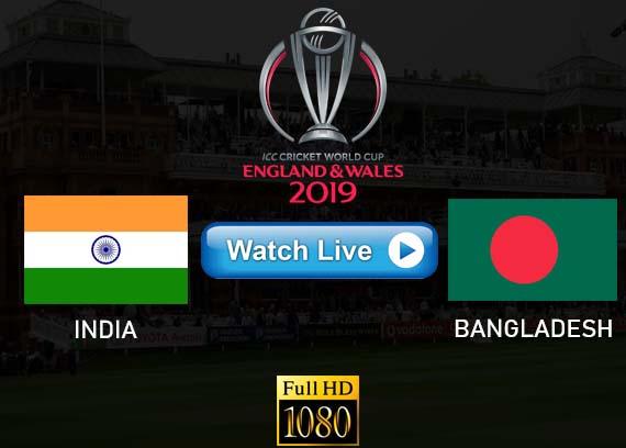 India vs Bangladesh Cricket World Cup 2019 live stream