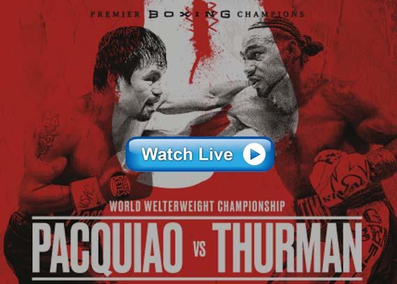 Pacquiao vs Thurman live streaming Reddit