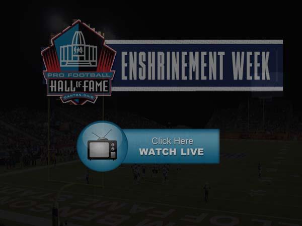 2019 NFL Hall of Fame Enshrinement Ceremony Live Stream