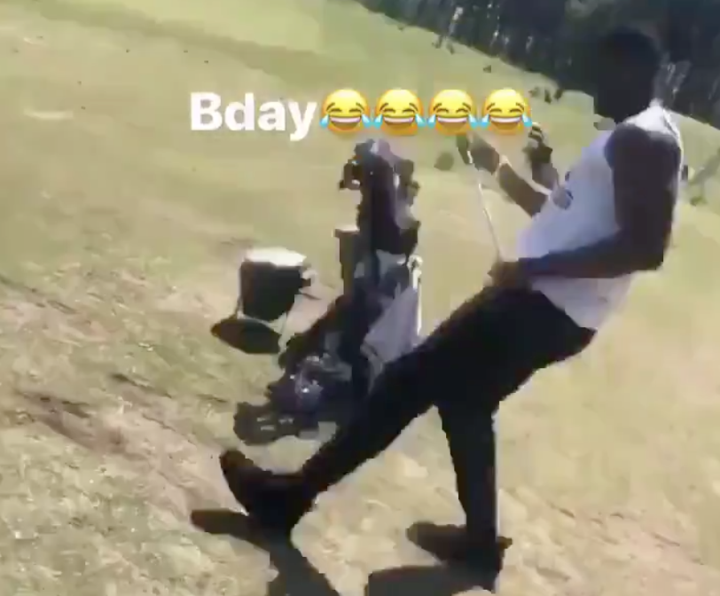 Zion Williamson shows off comically bad golf swing on birthday (Video)