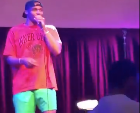 Look: Russell Westbrook was hosting comedy show when Rockets trade news broke