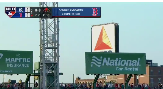 Xander Bogaerts somehow hits ball out of Fenway Park (Video)