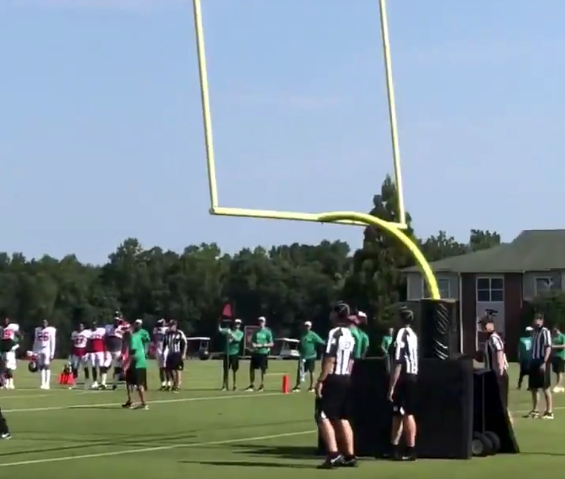 Watch: Mohamed Sanu drains field goal in practice, shows he can play any position