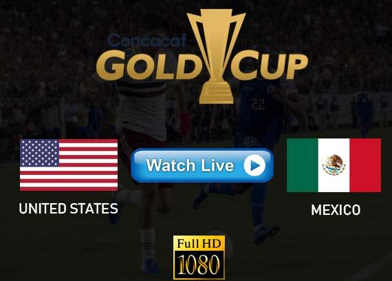 USA vs Mexico Gold Cup Final live stream reddit