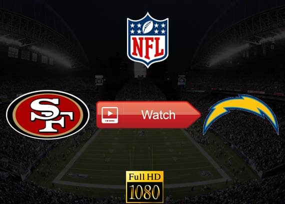 49ers vs Chargers live stream reddit