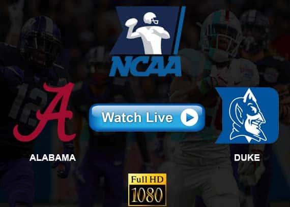Alabama vs Duke live streaming reddit