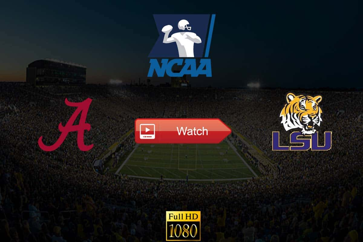 Alabama vs LSU live stream reddit