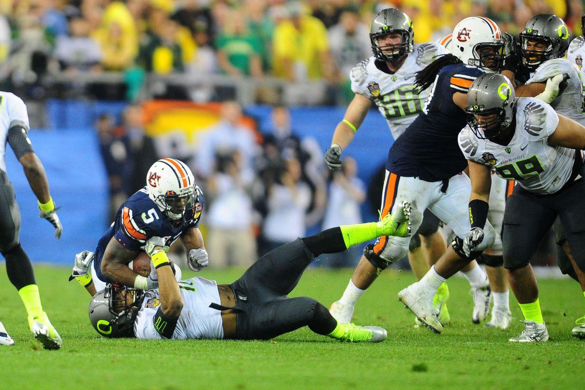 Oregon vs. Auburn—since the 2010 title game