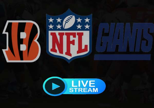 Giants vs Bengals Live Stream