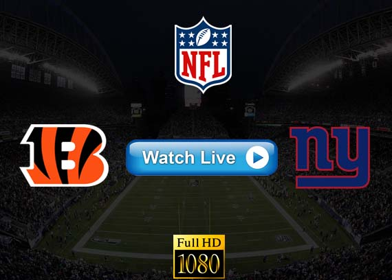 Bengals vs Giants live streaming reddit