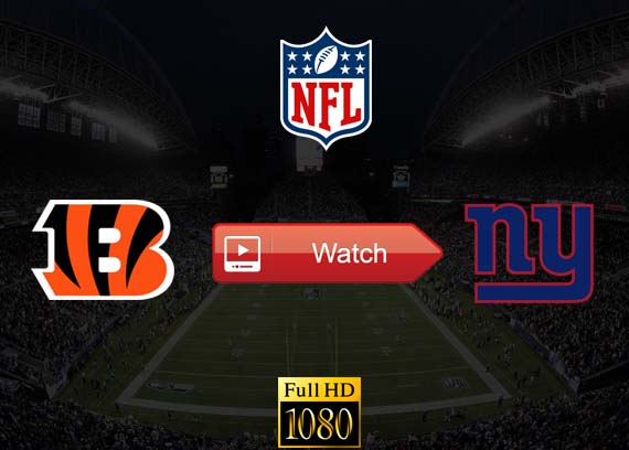 Bengals vs Giants live stream reddit