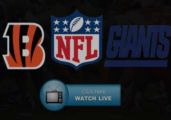 Giants vs Bengals Live Stream Reddit NFL