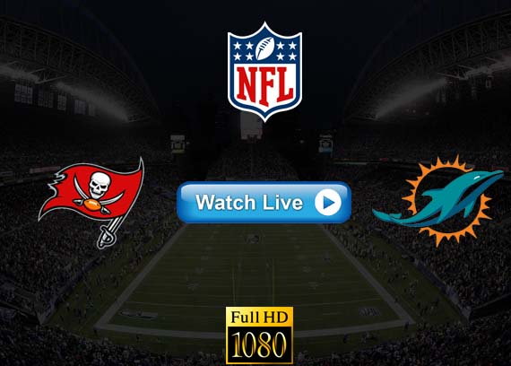 Buccaneers vs Dolphins live streaming