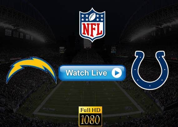 Chargers vs Colts live streaming reddit