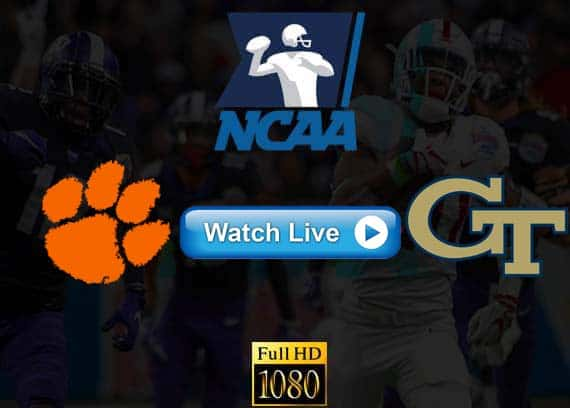Clemson vs Georgia Tech live streaming reddit