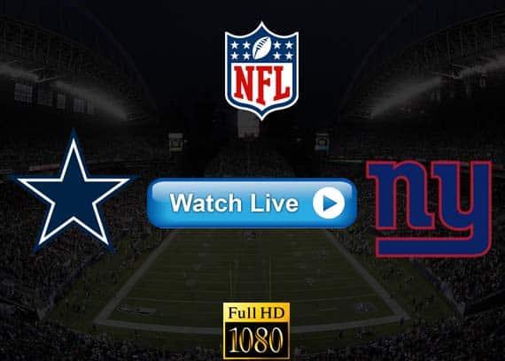 Cowboys vs Giants live streaming reddit