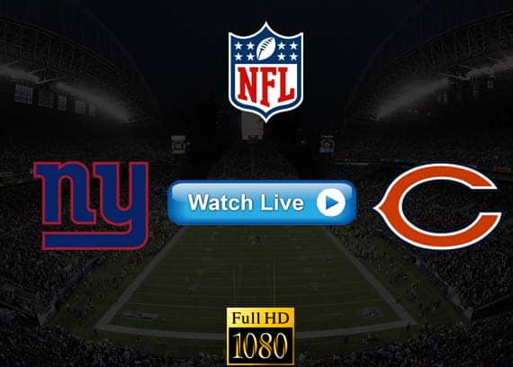 Giants vs Bears NFL live streaming reddit