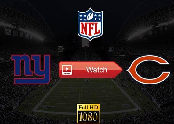Giants vs Bears live stream reddit