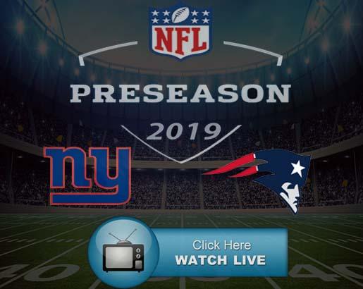 Giants vs Patriots Live Stream